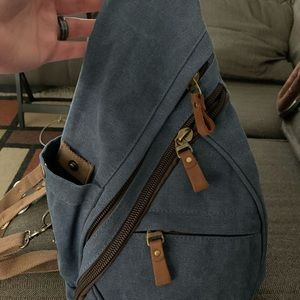 Canvas sling bag!